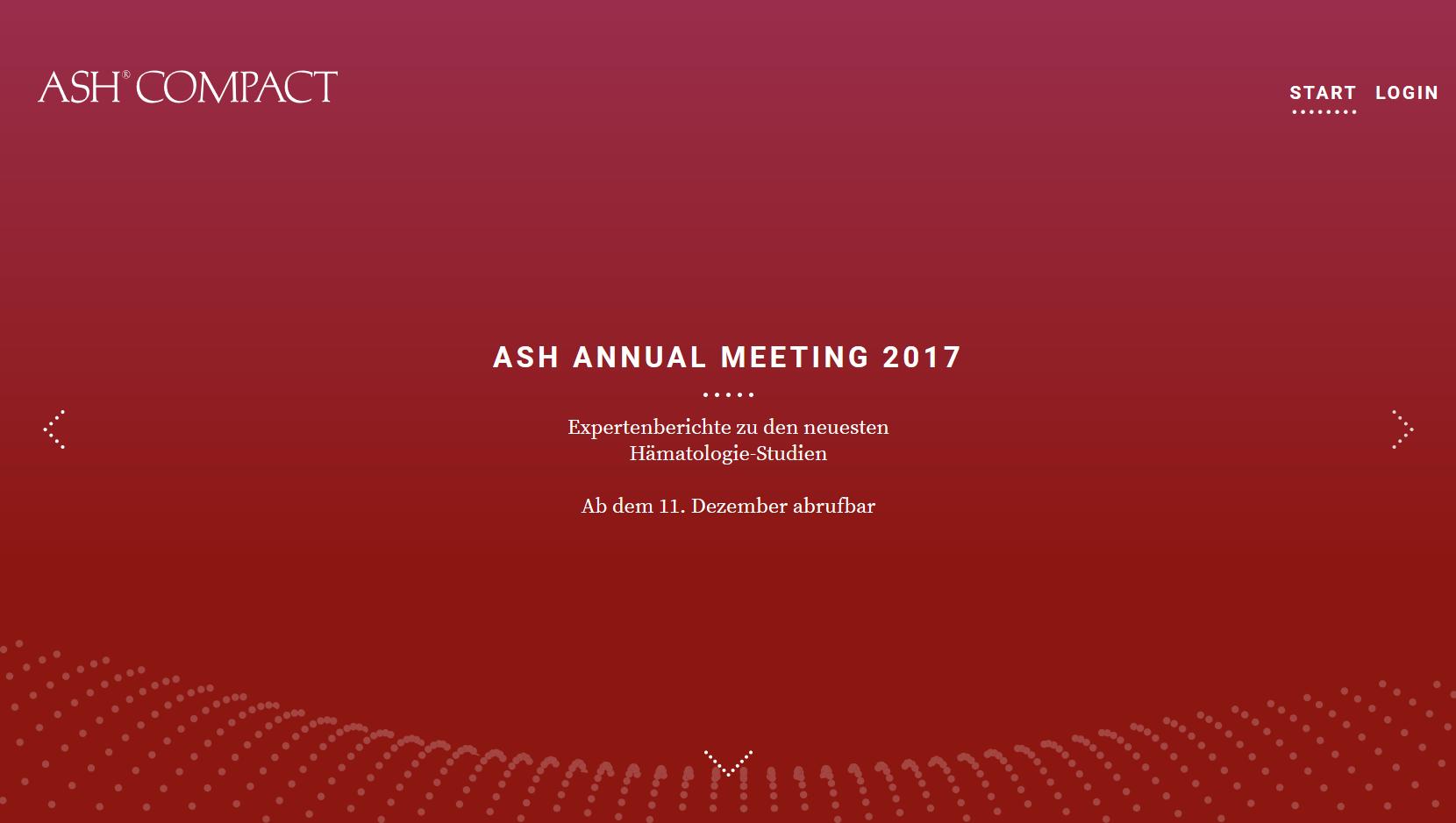 ASH COMPACT, Webseite (Screenshot), © art tempi communications