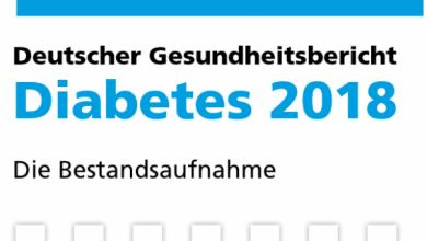 """Titelseite """"Deutscher Gesundheitsbericht Diabetes 2018"""", @ Kirchheim Verlag"""